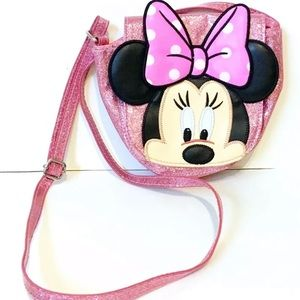 Disney Store Minnie Mouse Pink Sparkly Purse Bag